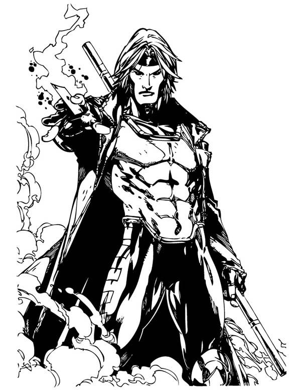 600x776 X Men Gambit Colouring Pages Dynamic Comic Book Art