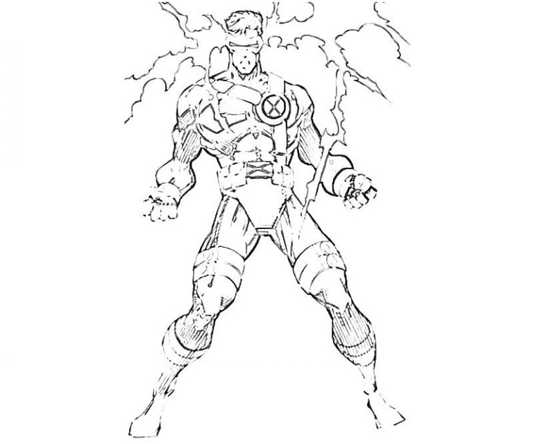 768x640 Cyclops Marvel Coloring Pages Best Of Abilities Bw