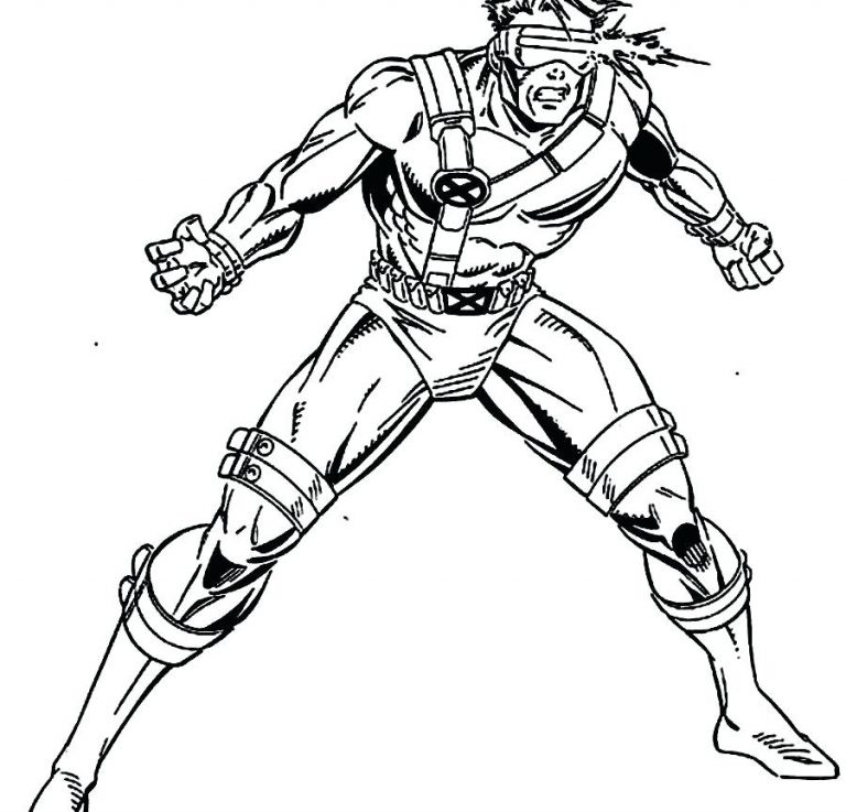 768x737 Cyclops Marvel Coloring Pages Best Of Page X Men Free Printable