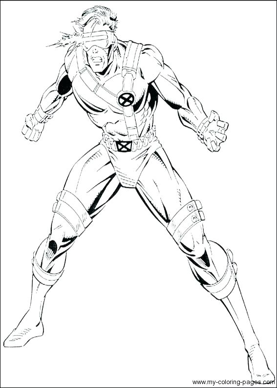 567x794 Cyclops Marvel Coloring Pages Copy Thanos Printable X Men Gambit