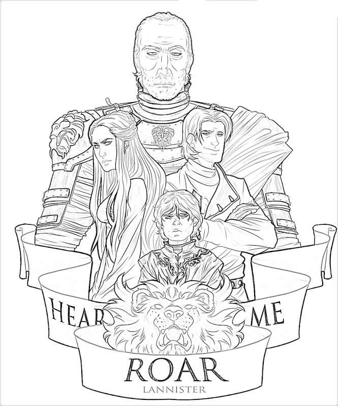 665x800 Game Of Thrones Sigil Coloring Pages Download Free Coloring Sheets