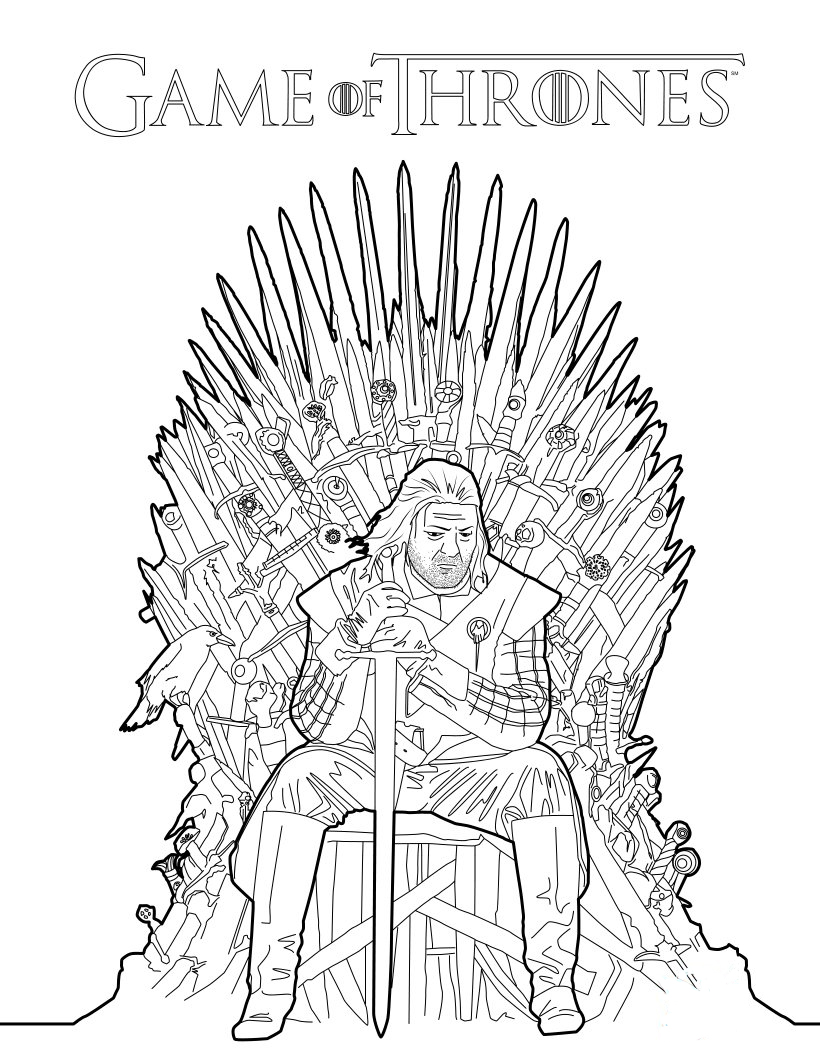 820x1060 Game Of Thrones Coloring Book Announced