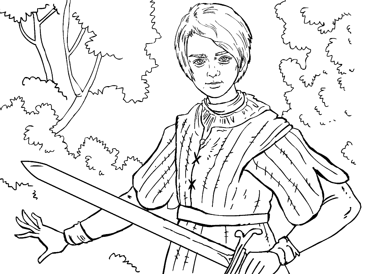 1200x900 Game Of Thrones Colouring In Page