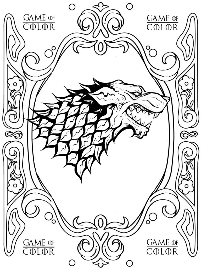 768x1024 Impressive Design Ideas Game Of Thrones Coloring Pages Free Album