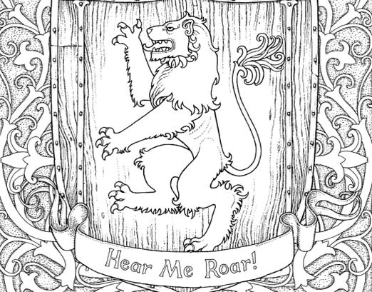 522x409 The Official Game Of Thrones Coloring Book Is Here!