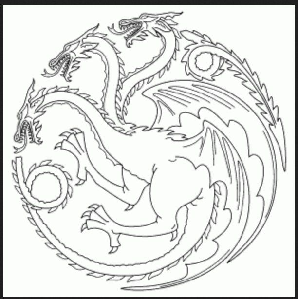 612x614 Game Of Thrones Coloring Book Color Pages Gaming