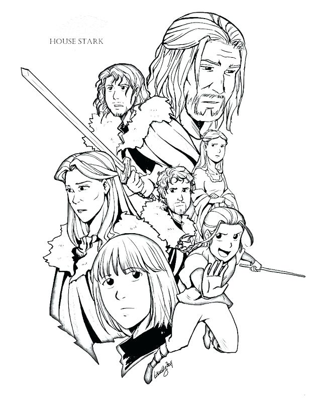 619x800 Game Of Thrones Coloring Book Finished Pages
