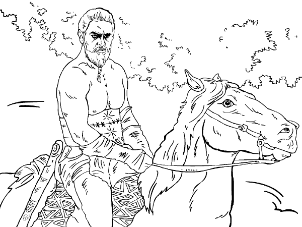 600x450 Khal Drogo Game Of Thrones Coloring Book Coloring