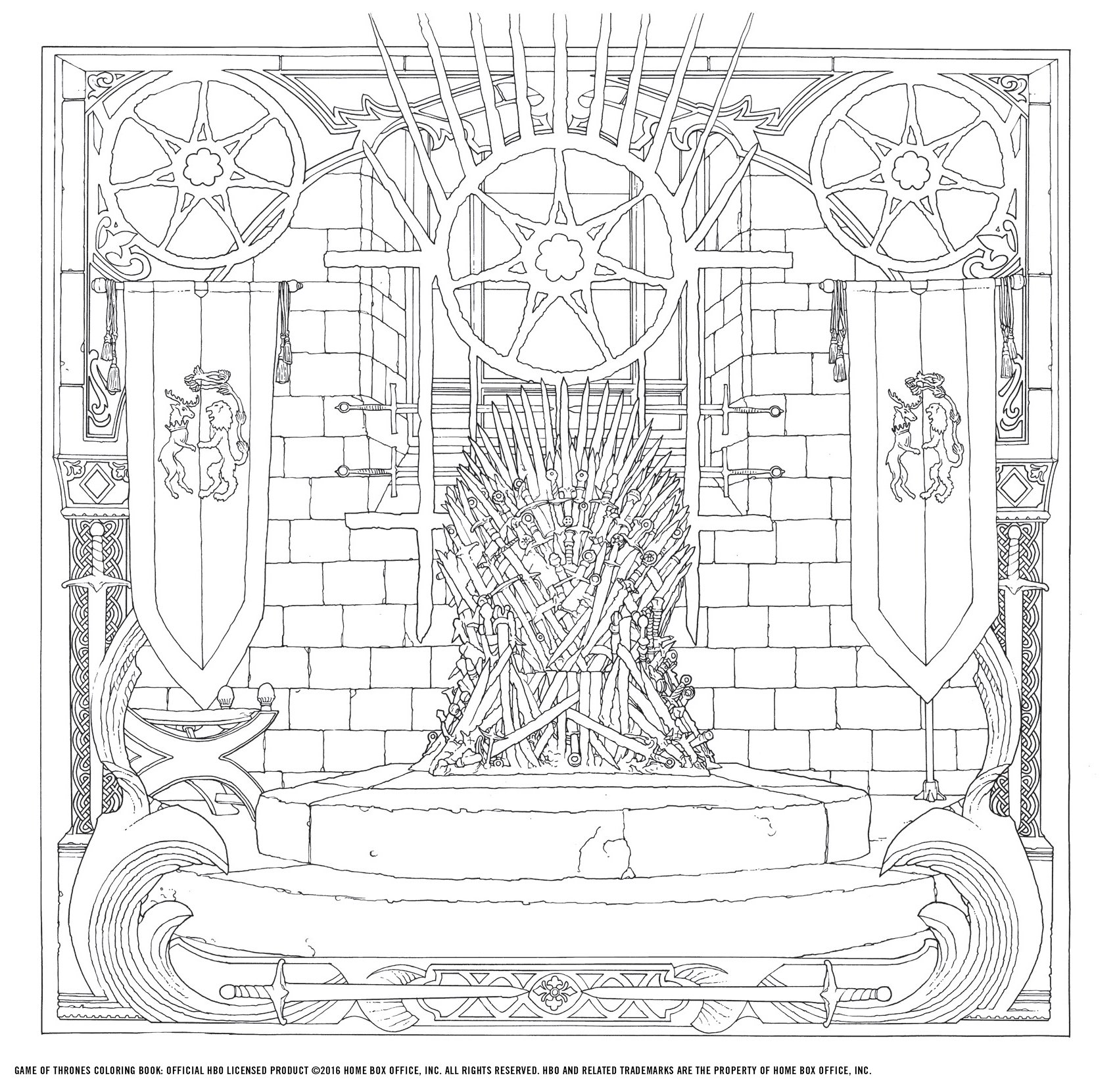 1699x1661 Design Inspiration Game Of Thrones Coloring Pages At Book