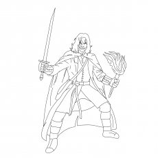 Gandalf Coloring Pages