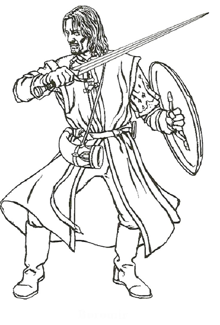 736x1084 Coloring Page Gandalf Pippin The Lord Of Rings Dean Throughout