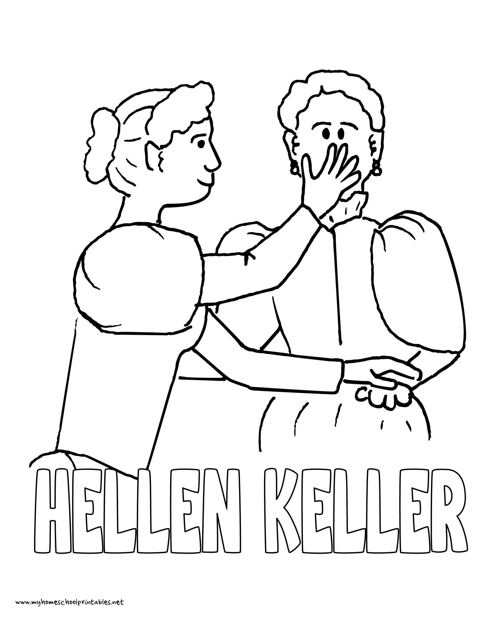 1594x2063 History Coloring Pages Volume Helen Keller