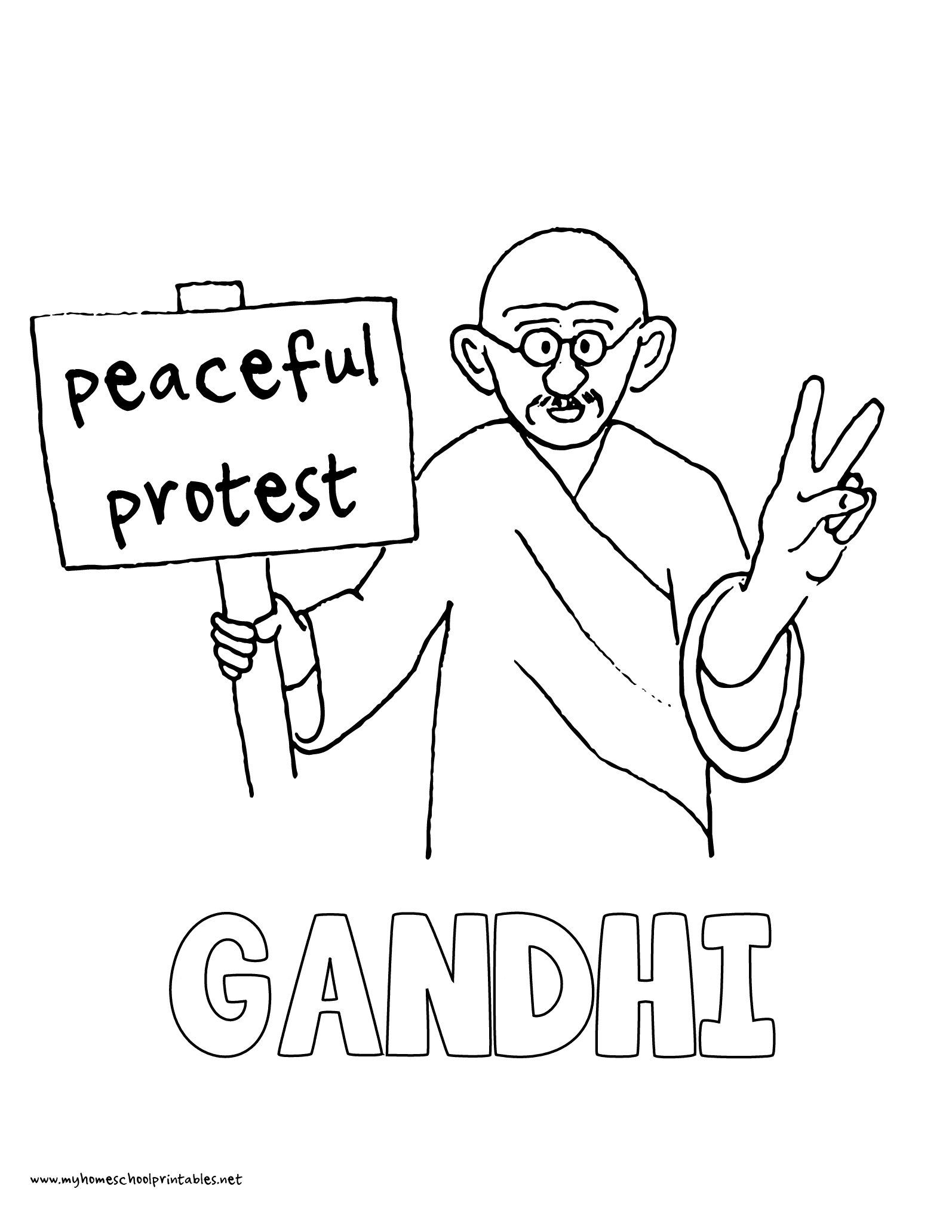 1594x2063 History Coloring Pages Volume Mahatma Gandhi