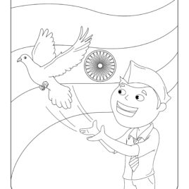 268x268 Independence Day Printable Coloring Pages Sheets Festivals Trend