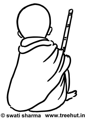 350x480 Mahatma Gandhi Clip Art