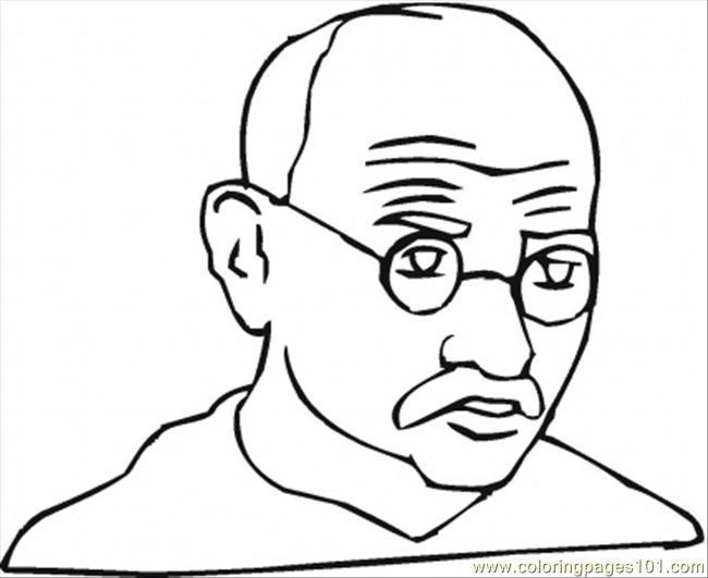 650x531 Mahatma Gandhi Coloring Page Coloring Page