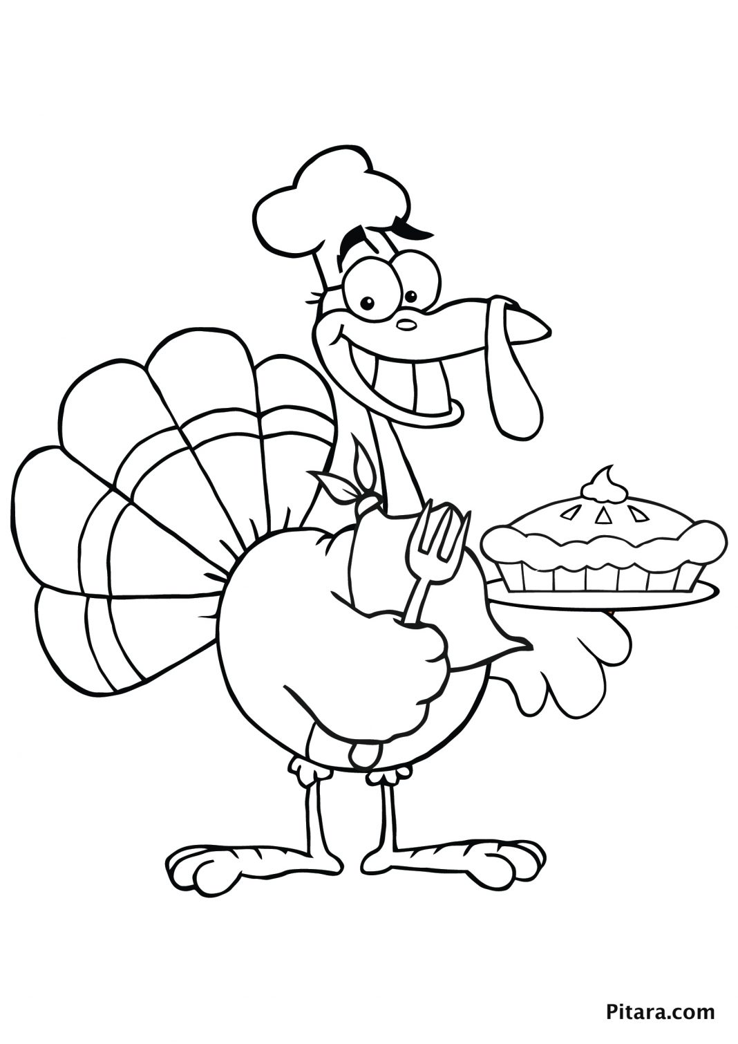 1068x1510 Turkey Coloring Pages For Kids Pitara Kids Network