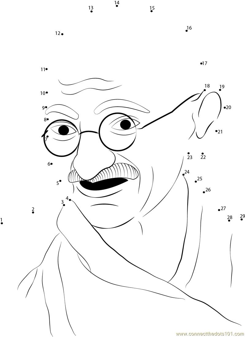 799x1097 Gallery Mahatma Gandhi For Kids Printable