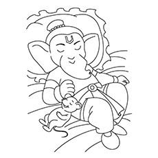 Ganesh Coloring Page
