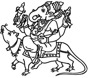 300x264 Ganesh Chaturthi Coloring Pages Coloring Pages