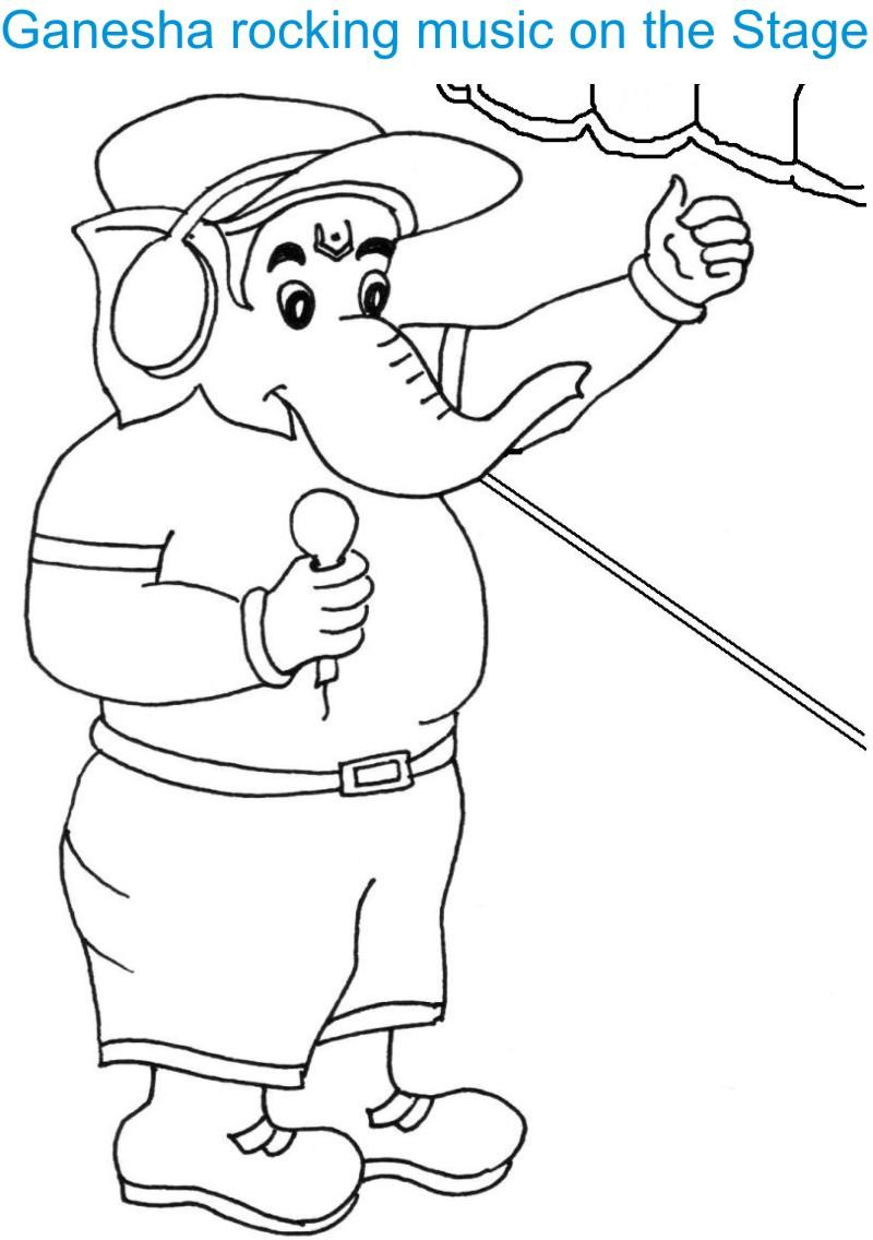 800x1136 Ganesh Chaturthi Coloring Page For Kids