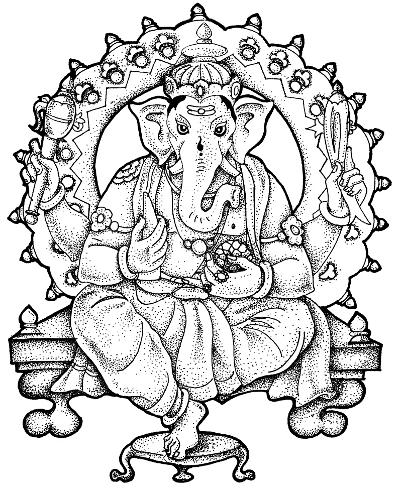 800x988 Ganesh Printable Coloring Pages Coloring Pages