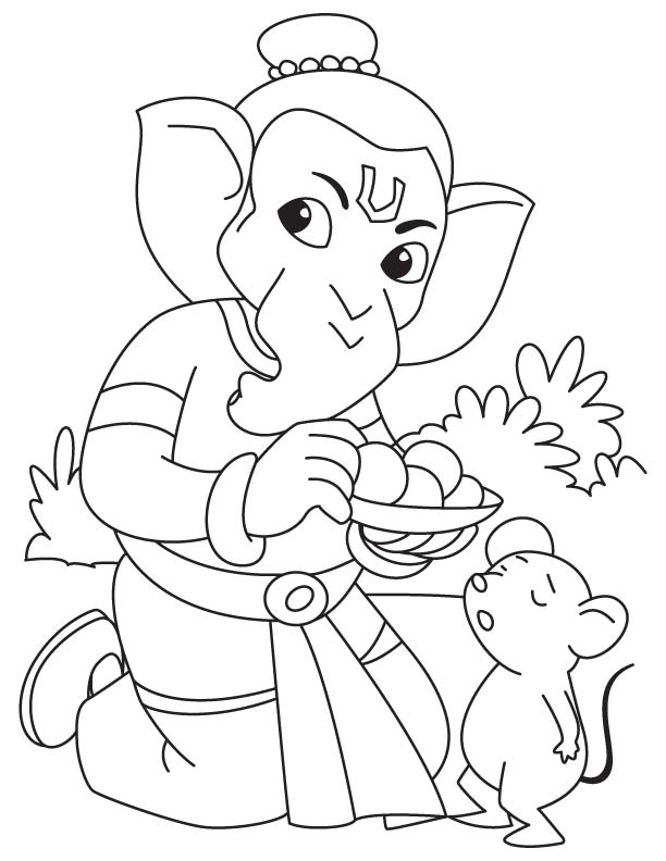 612x792 Ganesh Coloring Pages