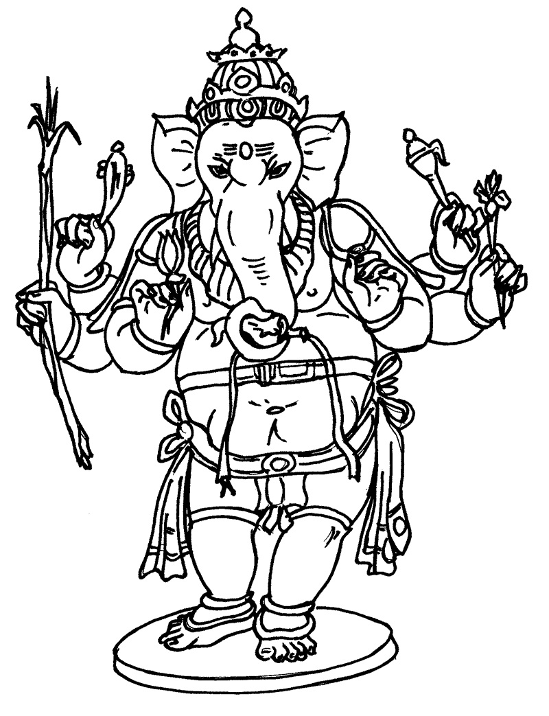 800x1043 Ganesha Images For Coloring Coloring Pages