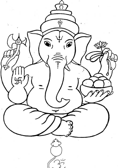 503x718 Ganesha Coloring Pages