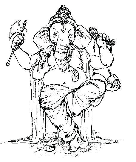 456x541 Ganpati Coloring Pages Printable Coloring Pages Coloring Pages