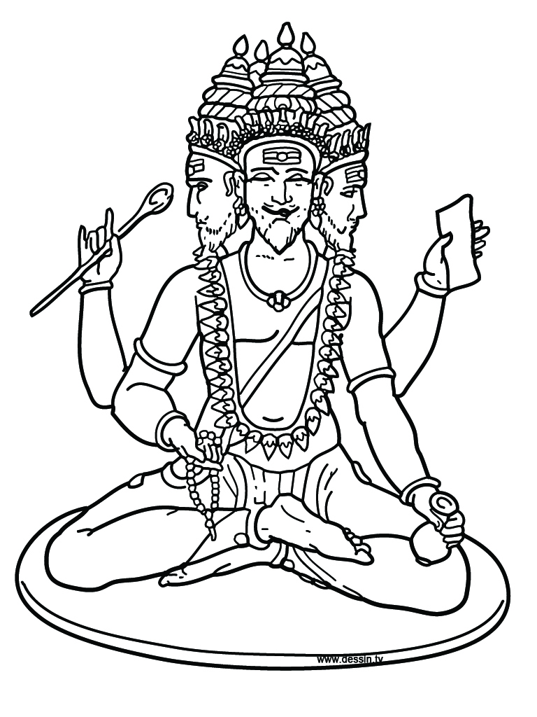 768x1024 Hindu Coloring Pages