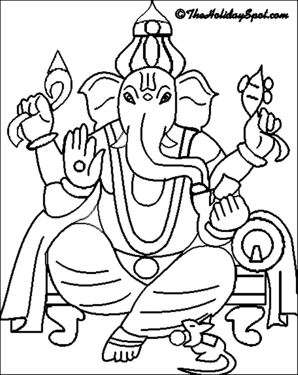 600x753 Innovative Ganesha Coloring Pages