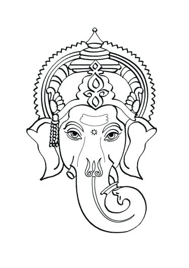 374x531 Lord Coloring Pages For Kids Kids Network Lord Bal Ganesh