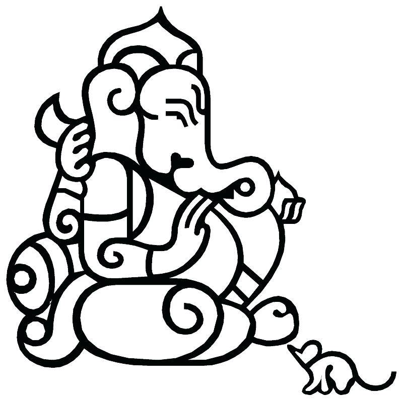 800x797 Lord Coloring Pages For Kids Kids Network Lord Ganesh Colouring