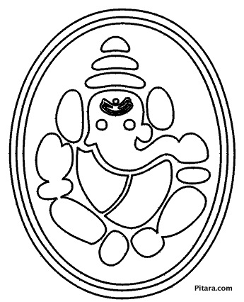 345x426 Lord Ganesha Coloring Pages For Kids Pitara Kids Network