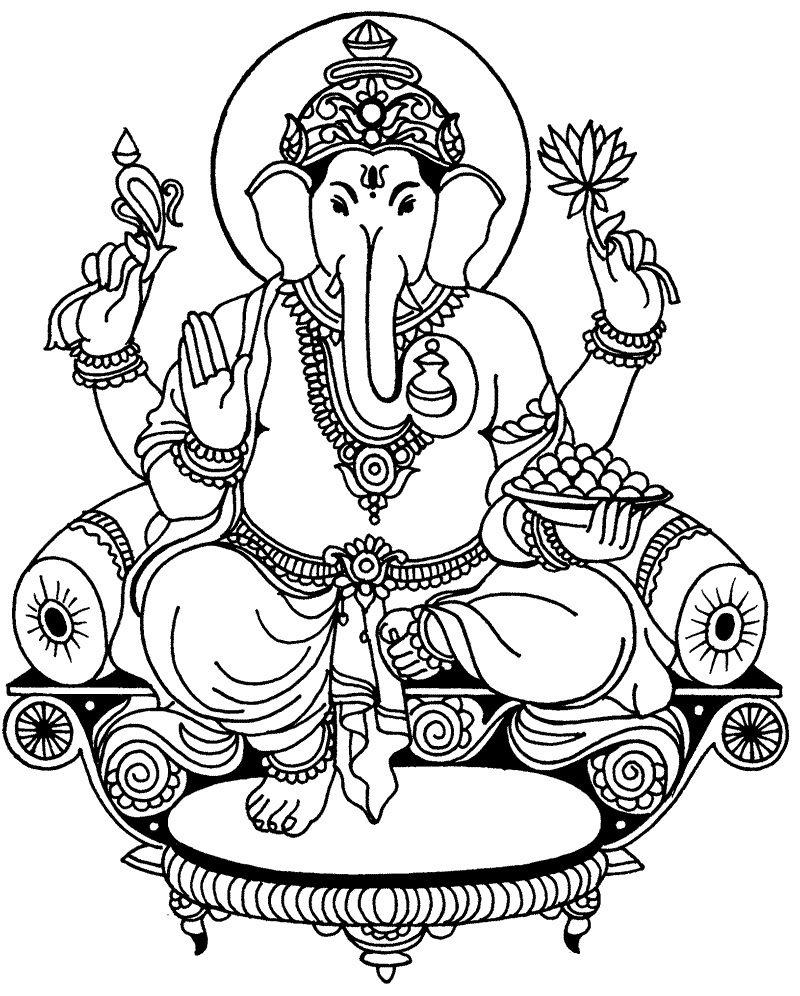 800x996 Picture Of Ganesha For Coloring Coloring Pages
