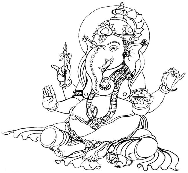 650x600 Printable Coloring Pages Of Ganesh Ganesha