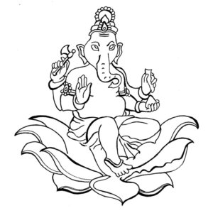 300x300 Beautiful Ganesha Colouring Pages That Your Kids Will Love