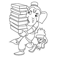 Ganesha Coloring Pages
