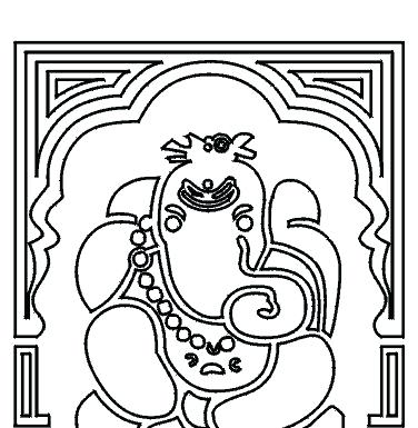 376x385 Lord Coloring Pages Kids Network Lord Ganesh Colouring Sheets