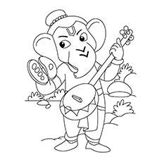 Ganesha Coloring Pages For Kids