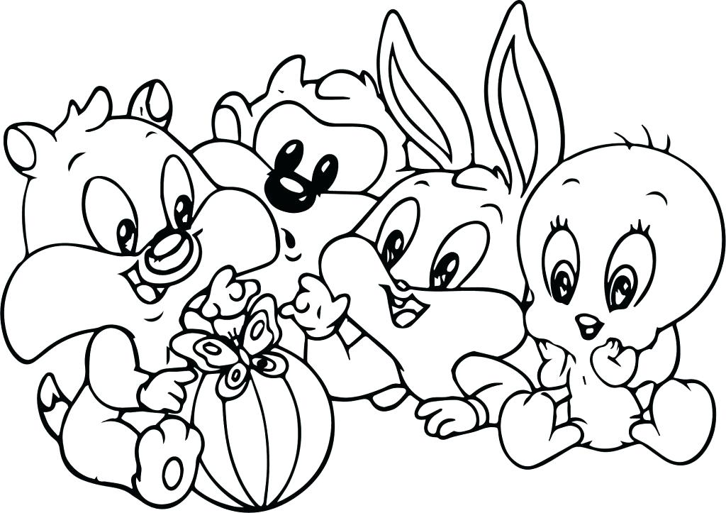 1024x723 Lola Bunny Coloring Pages Bugs Bunny Coloring Pages Baby Tunes