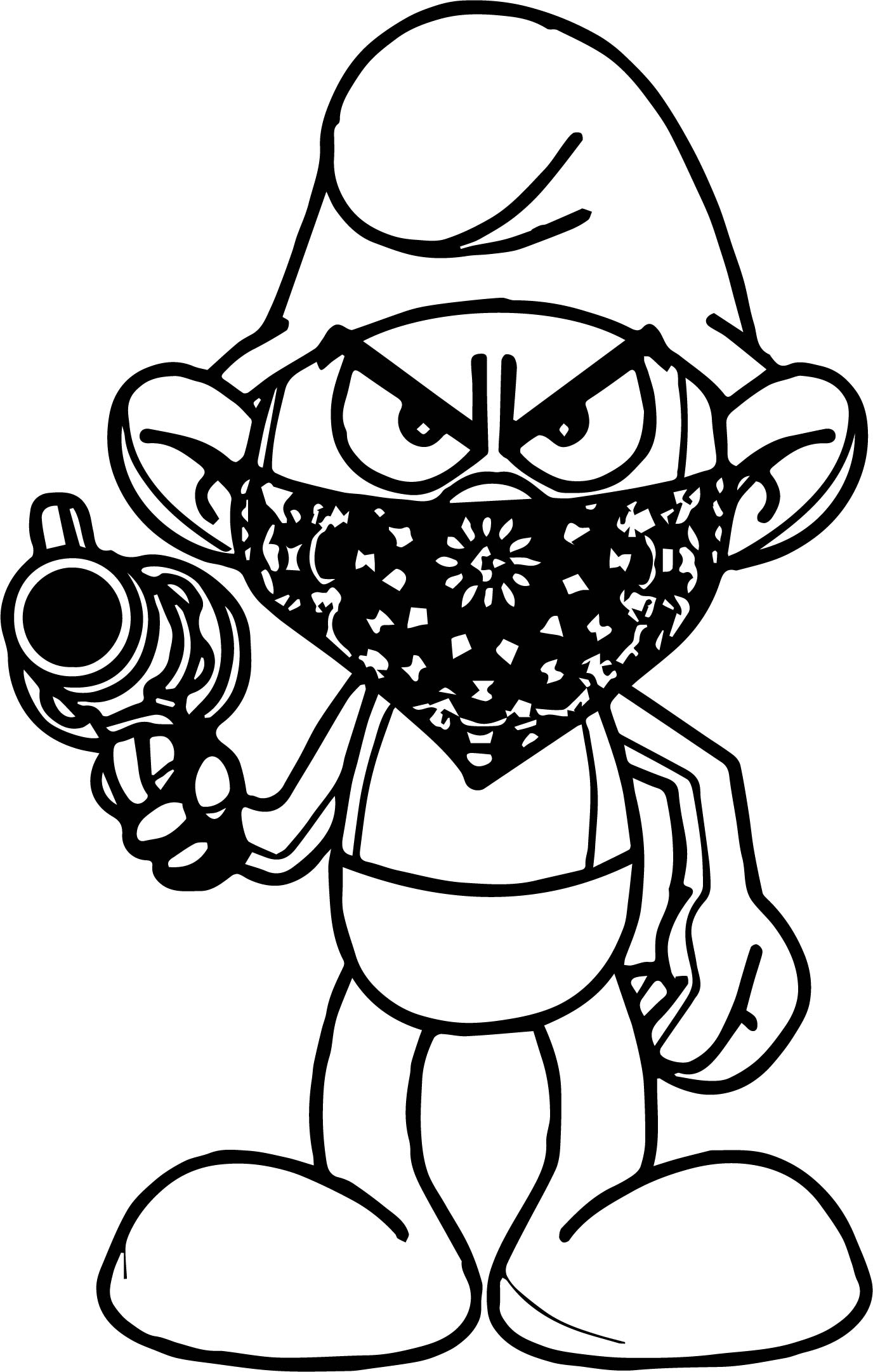 1376x2161 Temp Image Gangsta Smurf Coloring Page Wecoloringpage