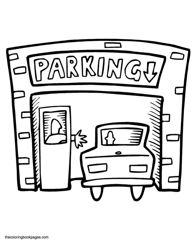 Garage Coloring Pages