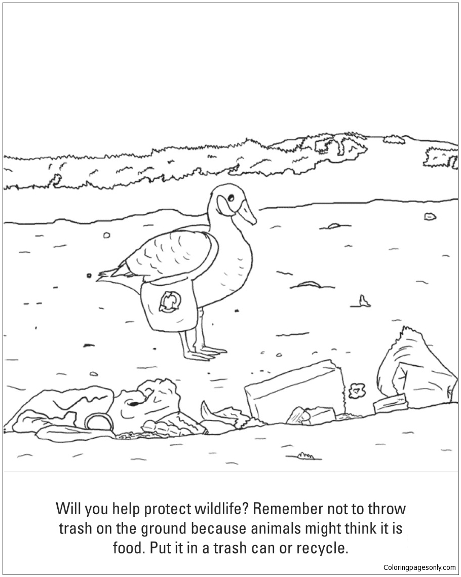 910x1139 Put Trash In A Trash Can Coloring Page