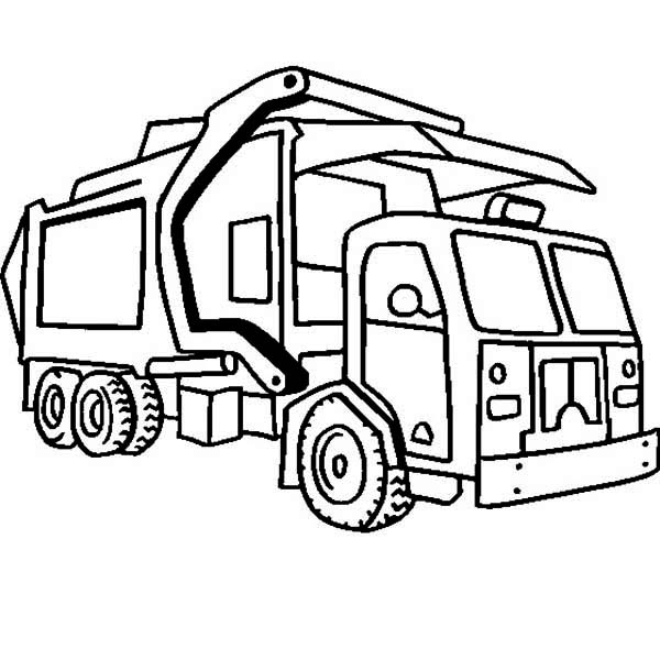 600x600 Garbage Truck Coloring Page Luxury Garbage Truck Coloring Pages