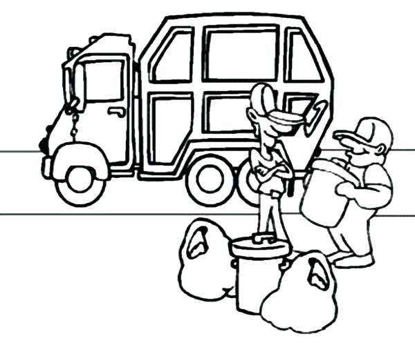 600x500 Garbage Truck Coloring Pages Free Garbage Truck Coloring Pages