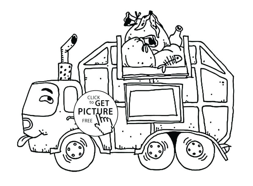 827x609 Garbage Truck Coloring Pages Garbage Truck Coloring Page Elegant