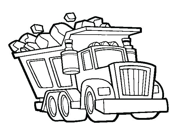 600x470 Garbage Truck Online Coloring Page Free Garbage Truck Coloring