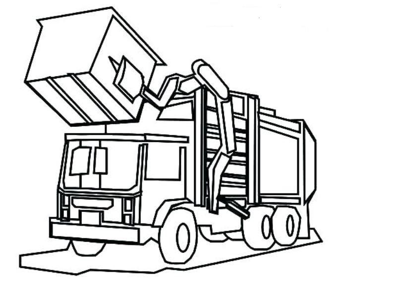 797x570 Garbage Truck Coloring Pages Printable Drawing Board Weekly